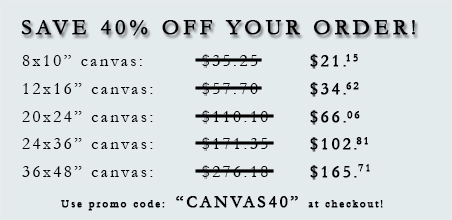 Save 40 Percent on Your Canvas Order