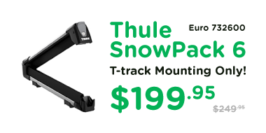 Thule Snowpack 6 732600 Euro T-track Only