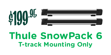Thule SnowPack 6 - Euro 732600, T-track Mounting Only