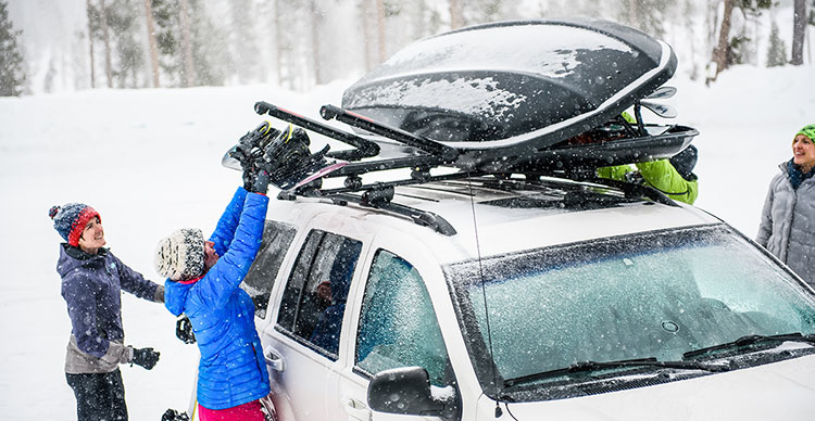 Vehicle Racks for Skis and Snowboards