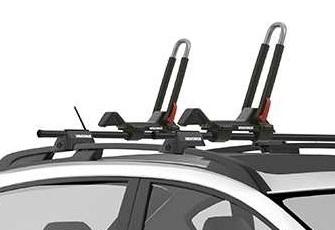 j cradle style kayak rack on Subaru
