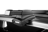 "Thule 45050 crossroad roof rack - foot pack, 50"" load bars, locks"