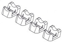 Replacement shear block base for 1A towers 8810007