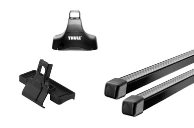 thule 480 traverse roof rack system for bare roofs. 480 foot pack, crossbars, fit kit