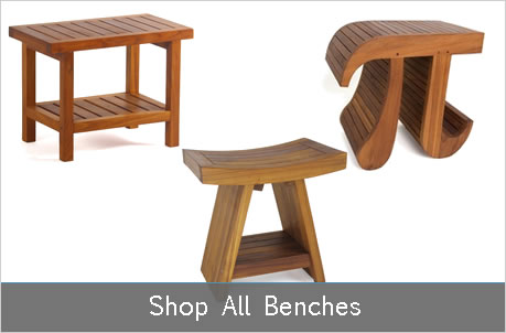 Teak Shower Bench Teak Bath Stool Teak Furniture Aqua Teak