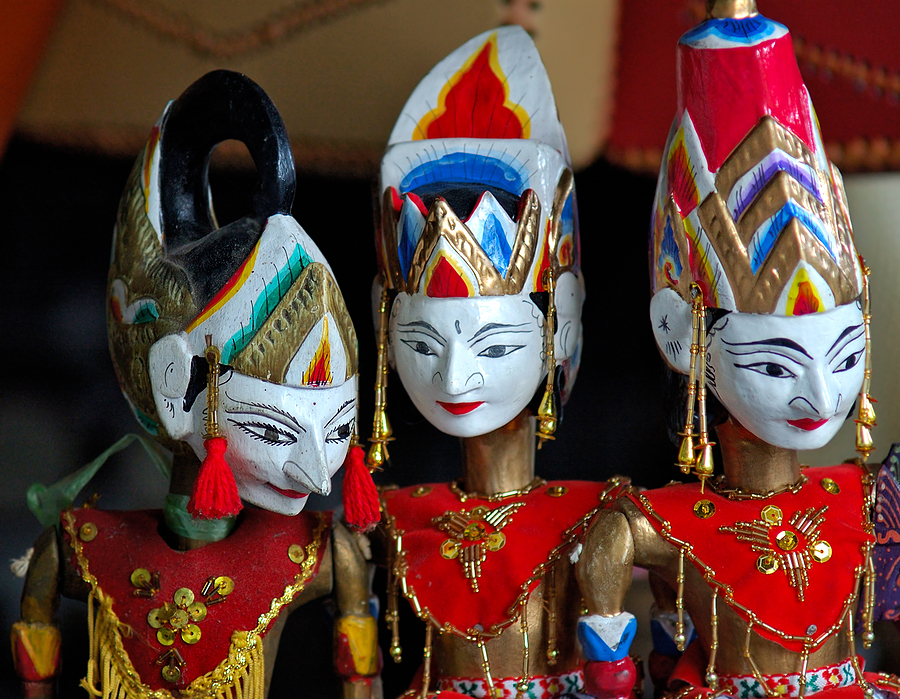 Traditional Indonesia Craft Puppets