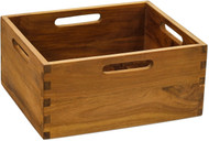 "7"" Spa™ Medium Teak Storage Bin"