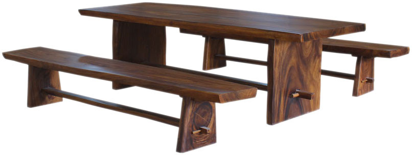 Super Molu Live Edge Teak Slab Table Bench Evergreenethics Interior Chair Design Evergreenethicsorg