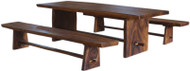 Molu™ Live Edge Teak Slab Table & Bench