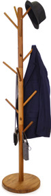 Manada™ Teak Coat Stand with Round Base