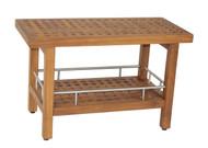 teak shower bench