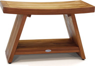 "Patented 30"" Asia® Teak Shower Bench with Shelf"