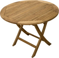 Aqua Mantis Large Round Folding Picnic Table