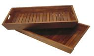 teak nesting trays