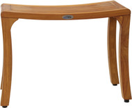 "Patented 24"" Asia® Curve Teak Shower Bench"