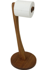 Patented Moa™ Teak Toilet Tissue Stand