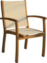 Aqua Sol Stacking Arm Chair