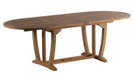 "Aqua Majestic 94.5"" Oval Double Extension Table"