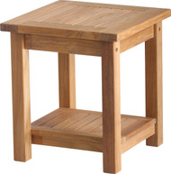 "Aqua Solstice 18"" Square Side Table with Shelf"