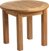 "Aqua Solstice 21.25"" Round Side Table"