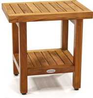 "The Original 18"" Spa™ Teak Shower Bench with Shelf"