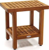 "The Original 18"" Grate™ Teak Shower Bench with Shelf"
