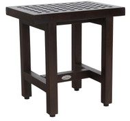 "Patented 18"" Grate™ Lotus Mocha-Shield Teak Shower Bench"
