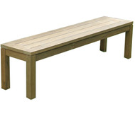 "Aqua Chateau 84.5"" Reclaimed Backless Bench"