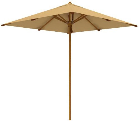 "teak outdoor furniture -  Aqua Shade 78.75"" Square Parasol (2902)"