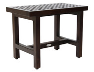 "Patented 24"" Grate™ Lotus Mocha-Shield Teak Shower Bench"