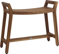 Asia Ascend Estate Teak Shower Bench with Elevated Height
