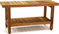 "The Original 36"" Spa™ Teak Shower Bench with Shelf"