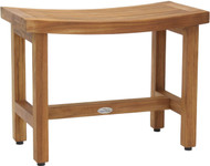 "Patented 24"" Sumba™ Lotus Teak Shower Bench"