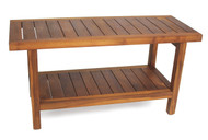 "36"" Wide Spa™ Teak Side Table with Shelf"