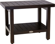 "24"" Wide Spa™ Mocha Teak Side Table with Shelf"