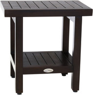 "18"" Spa™ Mocha Teak Side Table with Shelf"
