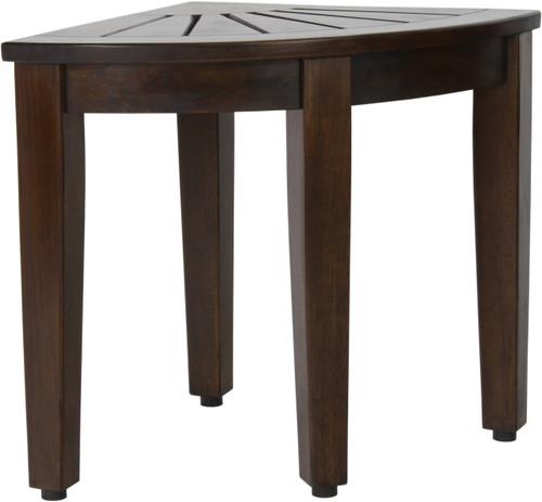 """15.5"""" Kai™ Corner Walnut Teak Side Table"""