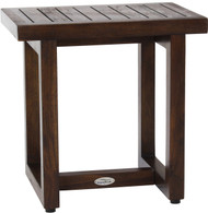 "18"" Spa™ Walnut Color Teak Shower Bench"