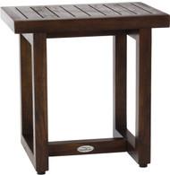 "18"" Spa™ Walnut Color Teak Side Table"