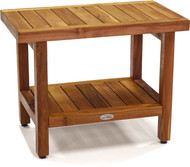 "Floor Sample Spa 24"" Teak Shower Bench with Shelf"