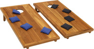 Solid Teak Stellar Corn Toss Game & Set of Eight Corn Toss Bags