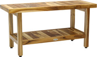 "36"" Spa™ Clear-Shield Teak Shower Bench with Shelf"