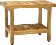 "24"" Spa™ Shield Teak Shower Bench with Shelf"