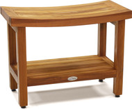 "Patented 24"" Sumba™ Teak Shower Bench with Shelf"