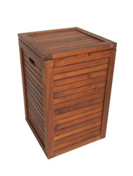 Scratch & Dent - The Original Nila™ Medium Size Teak Laundry or Storage Hamper