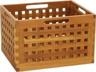 "10"" Grate™ Large Size Teak Storage Bin"