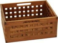 "7"" Grate™ Medium Size Teak Storage Bin"