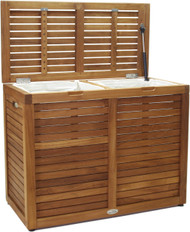 Nila™ Medium-Size Double Teak Laundry or Storage Hamper