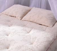 top view of mattress topper
