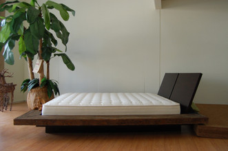 Coconut mattress on platform bed. Bed is not included.